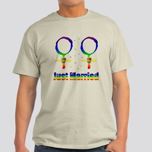Just Married Lesbians Light T-Shirt