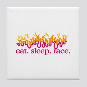 Race (Flames) Tile Coaster