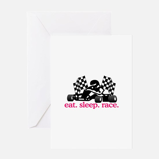 Race (Go Kart) Greeting Cards