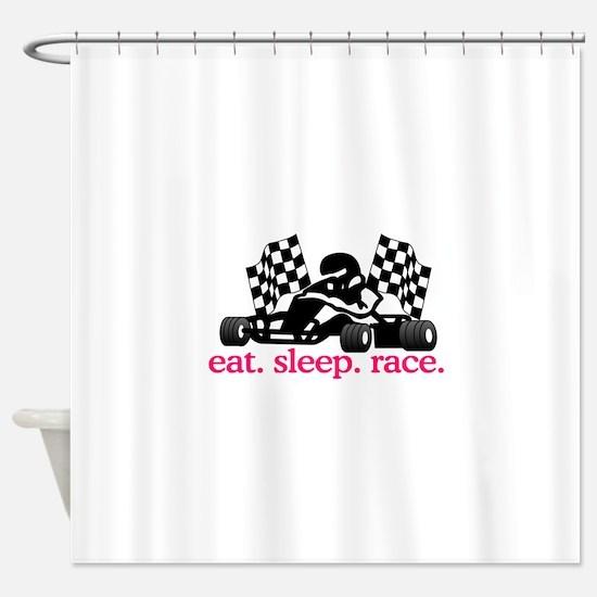 Race (Go Kart) Shower Curtain