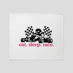 Race (Go Kart) Throw Blanket