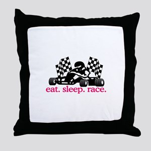 Race (Go Kart) Throw Pillow