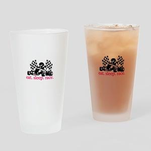 Race (Go Kart) Drinking Glass