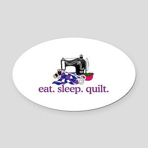 Quilt (Machine) Oval Car Magnet
