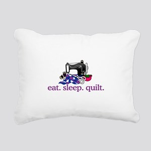 Quilt (Machine) Rectangular Canvas Pillow