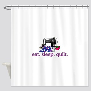 Quilt (Machine) Shower Curtain