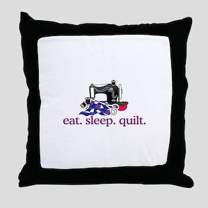 Quilt (Machine) Throw Pillow