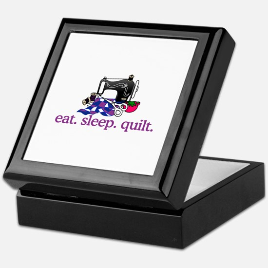 Quilt (Machine) Keepsake Box