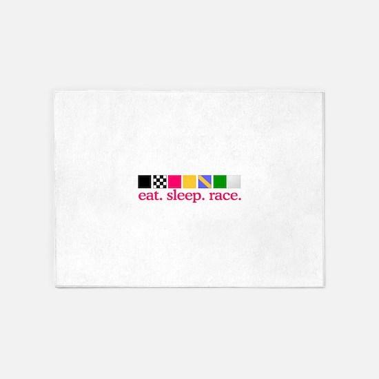 Race (Flags) 5'x7'Area Rug