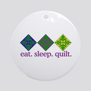 Quilt (Squares) Ornament (Round)