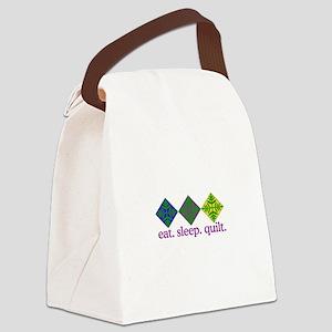 Quilt (Squares) Canvas Lunch Bag