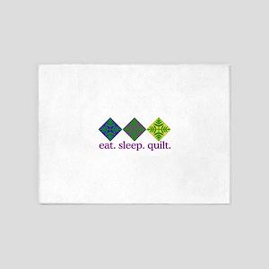 Quilt (Squares) 5'x7'Area Rug