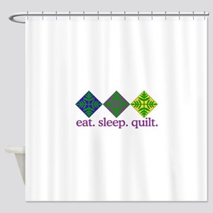 Quilt (Squares) Shower Curtain