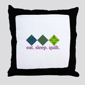 Quilt (Squares) Throw Pillow
