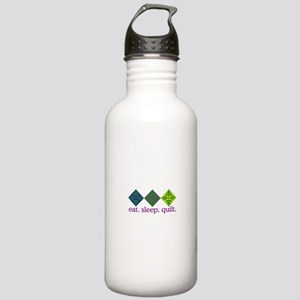 Quilt (Squares) Water Bottle