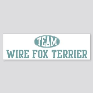 Team Wire Fox Terrier Bumper Sticker