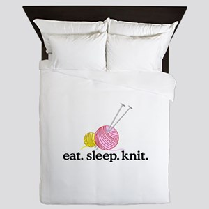 Knitting Needles & Yarn Queen Duvet