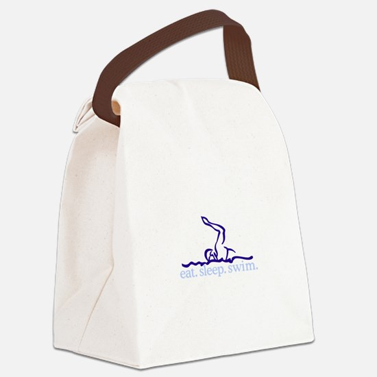 Swim (Swimmer #2) Canvas Lunch Bag
