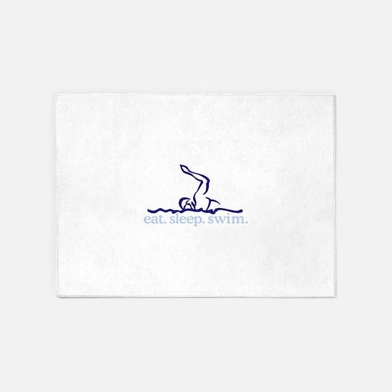 Swim (Swimmer #2) 5'x7'Area Rug