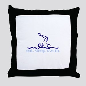 Swim (Swimmer #2) Throw Pillow