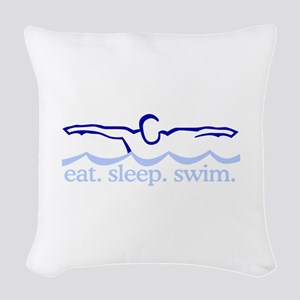 Swim (Swimmer) Woven Throw Pillow