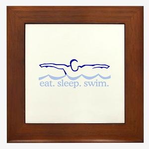 Swim (Swimmer) Framed Tile