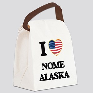 I love Nome Alaska Canvas Lunch Bag