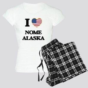 I love Nome Alaska Women's Light Pajamas