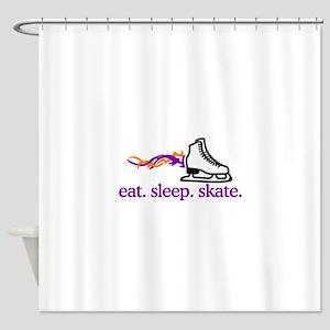 Skate (Flaming Skate) Shower Curtain