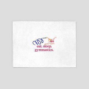 Gymnastics (Ribbon Gymnast) 5'x7'Area Rug