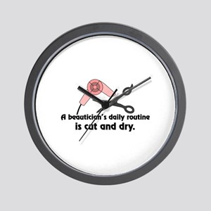 Beauticians Routine Wall Clock