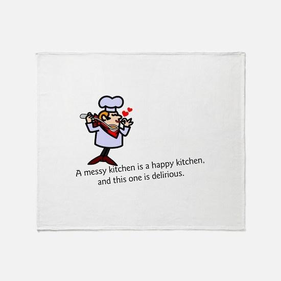 A Messy Kitchen Throw Blanket