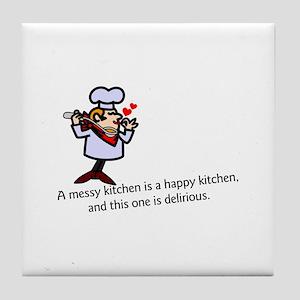 A Messy Kitchen Tile Coaster