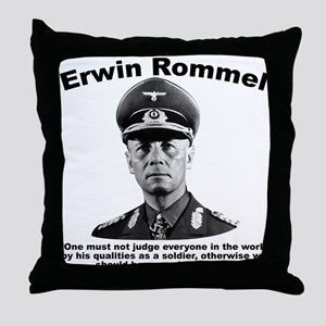 Rommel: Soldiers Throw Pillow