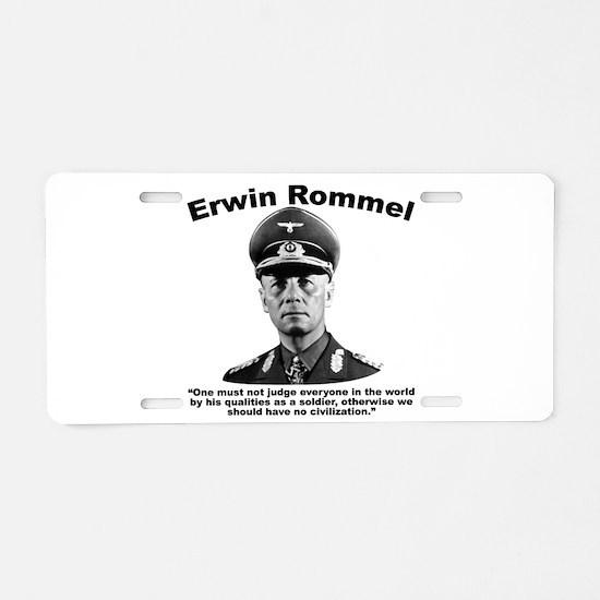 Rommel: Soldiers Aluminum License Plate