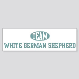 Team White German Shepherd Bumper Sticker