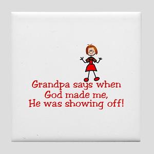 God Showing Off1 Tile Coaster