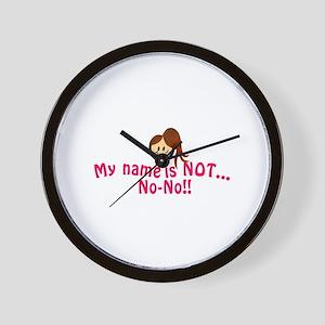 Not No-No Wall Clock