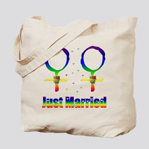 Just Married Lesbians Tote Bag