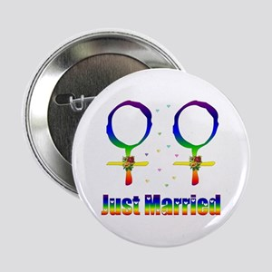 "Just Married Lesbians 2.25"" Button"