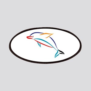Multicolor Dolphin Patch