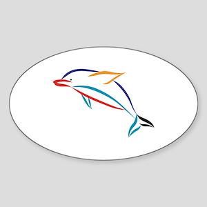 Multicolor Dolphin Sticker