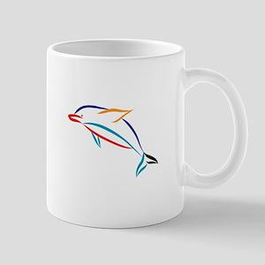 Multicolor Dolphin Mugs