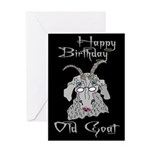 Old Goat Birthday 4 Her Greeting Card