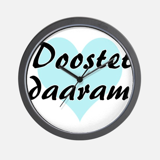 Doostet daaram - Persian - I Love You Wall Clock