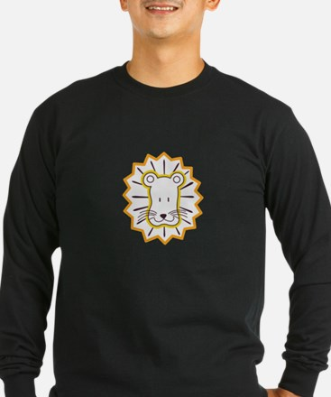 Lion Face Long Sleeve T-Shirt