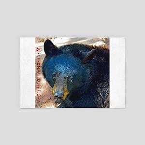 Black Bear Face 4' X 6' Rug