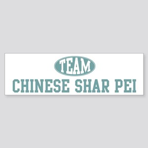 Team Chinese Shar Pei Bumper Sticker
