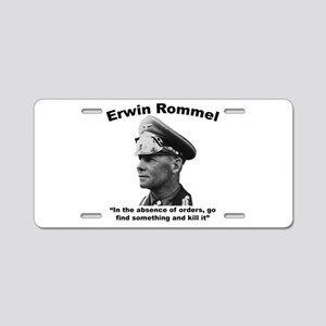 Rommel: Kill It Aluminum License Plate