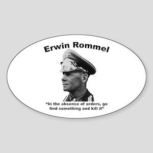 Rommel: Kill It Sticker (Oval)
